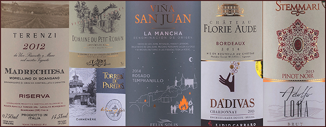 rótulos de vinhos