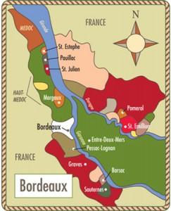 As margens de Bordeaux