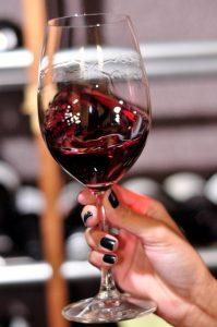 Girar a taça do vinho